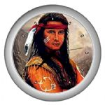 Native American Indian Warrior Themed Wall Clocks